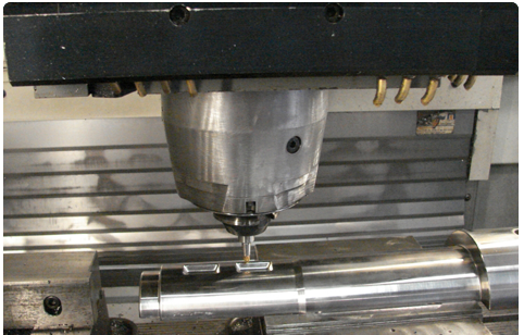 3D machining of a through hardened pipe forming mandrel